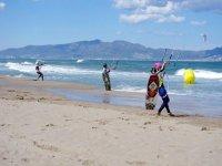 在Gerona风筝冲浪