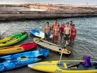 Probando tablas y canoas