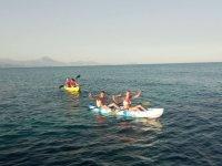 Regresando de la travesia en canoa