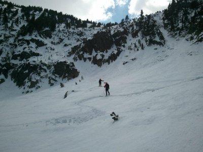 通过雪鞋登上Pic de la Dona