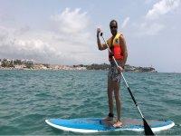 在Altafulla的SUP冲浪板划船