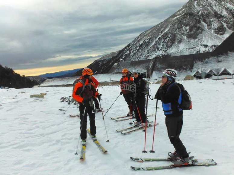 Alpine skiing route in Gerona