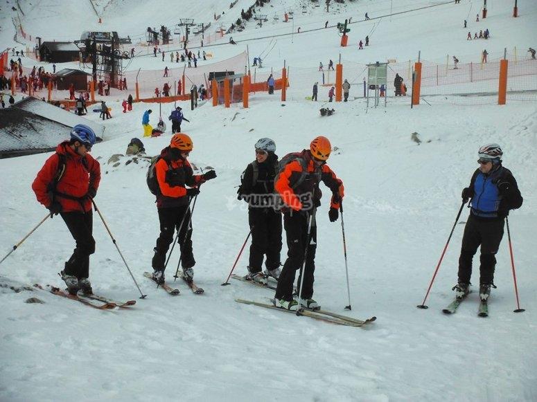 赫罗纳的山地滑雪