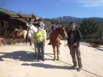 Horse riding tour for 6 year olds, 30 mins