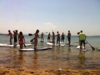 First lessons of Paddle Surf
