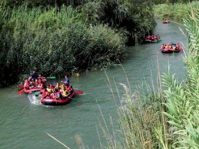 Descenso de rafting para colegios, río Segura, 3h