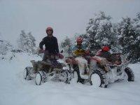 Ruta de invierno en quad
