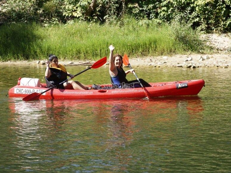Discesa in canoa sul Sella