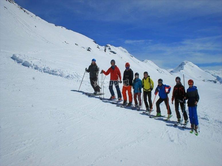 Disfrutando del esqui en Valdesqui