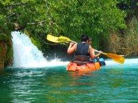 Con el kayak en las Lagunas de Ruidera