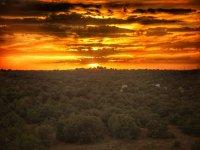 El sol poniendose en Ruidera