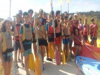 Preparados para los kayaks