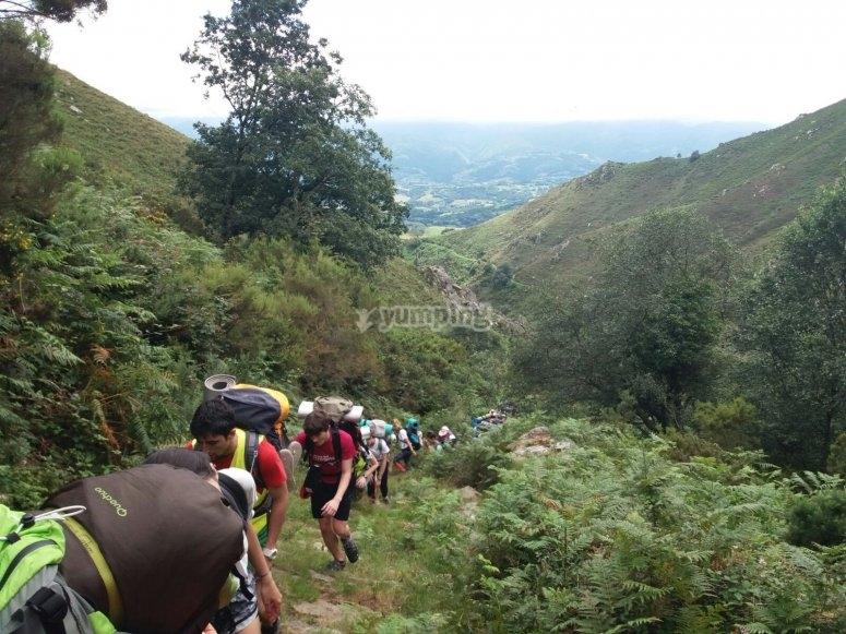 Excursión por el monte
