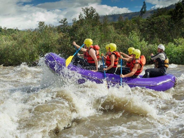 Iníciate en el rafting