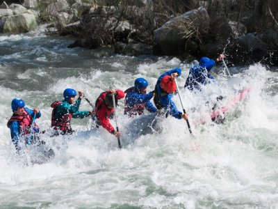 White water rafting in Sella river, adults