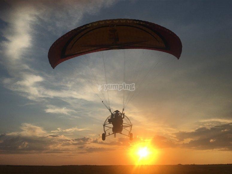 Volando en paramotor por Palencia