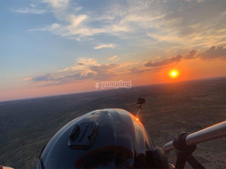 Probar un vuelo en paramotor por Palencia