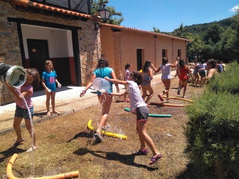 Actividades con agua al sol