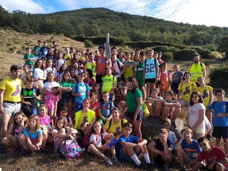Campistas en El Salugral