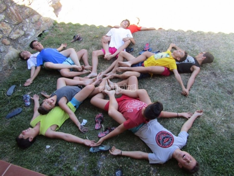 Group games at the camp