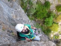 Getting away from the ground at the ferrata
