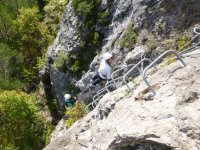 Staple track in the ferrata
