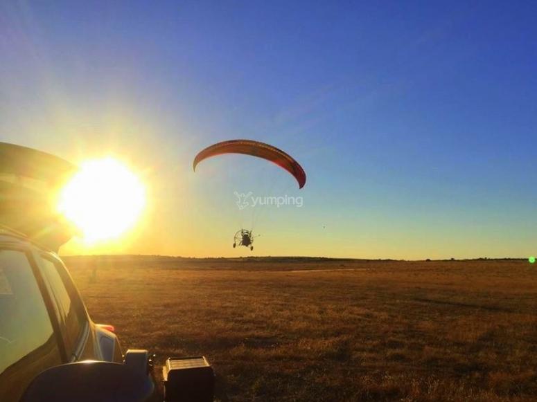 Volar en paramotor por Palencia