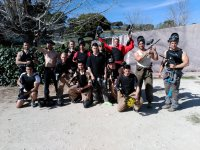 Partida masculina de paintball