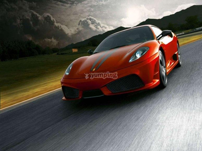 Conduciendo un Ferrari en Sant Cugat