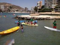 Attività di kayak