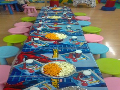 Thematic birthday party, weekends
