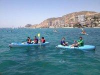 Canoe in mare
