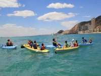 Partenza in canoa