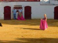 Girl facing the heifer