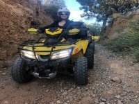 Exit in quad by offroad circuit