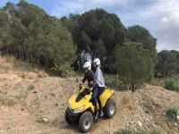 Departure by quad with Mont Roig del Camp couple