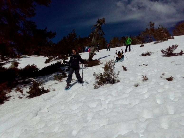 Ascensión con raquetas de nieve Peñalara
