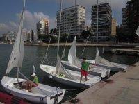 Barche a vela nel porto