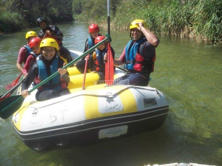 Rafting en el valle del Jucar