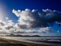 Aquiloni sulla spiaggia di Lanzarote