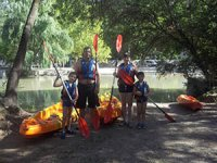 Ruta en kayak en familia