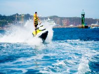 Accelerating on the jet ski