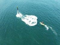 Flyboard sulla costa di Gijon