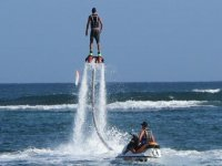 Jet ski propelling the flyboard