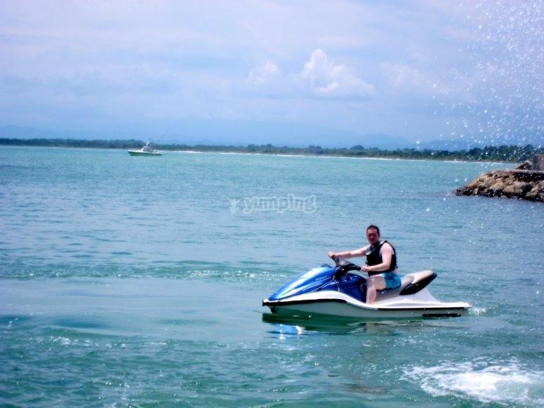 Circuito en moto de agua biplaza Mogán