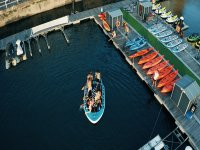 Starting from the port of Gijón on the Big SUP board