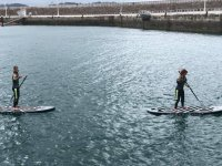 Paddling on SUP boards