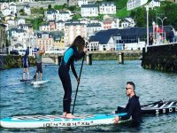 Learning paddle surfing