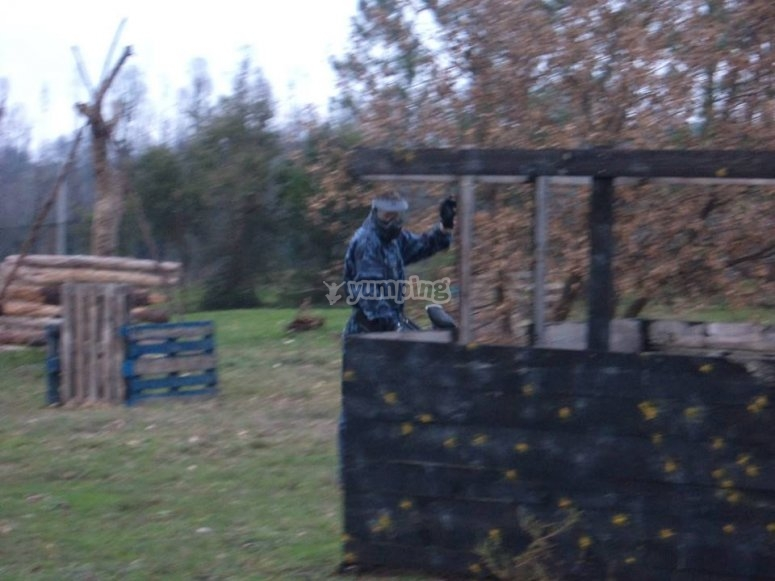 Paintball y barbacoa