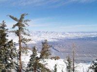 在冬季积雪覆盖谷
